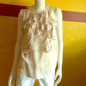 Rebecca Taylor sleeveless top with ruffles